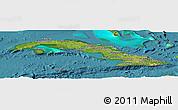 Satellite Panoramic Map of Cuba, physical outside, satellite sea