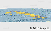 Savanna Style Panoramic Map of Cuba, single color outside