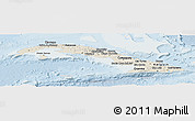 Shaded Relief Panoramic Map of Cuba, lighten