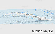Silver Style Panoramic Map of Cuba