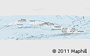 Silver Style Panoramic Map of Cuba, single color outside
