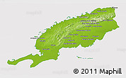 Physical 3D Map of Pinar del Rio, cropped outside