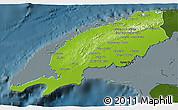 Physical 3D Map of Pinar del Rio, darken