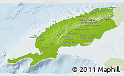 Physical 3D Map of Pinar del Rio, lighten