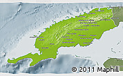 Physical 3D Map of Pinar del Rio, semi-desaturated