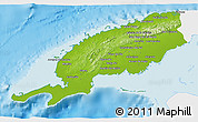 Physical 3D Map of Pinar del Rio, single color outside