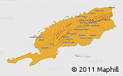 Political 3D Map of Pinar del Rio, cropped outside