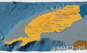 Political 3D Map of Pinar del Rio, darken