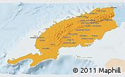 Political 3D Map of Pinar del Rio, lighten