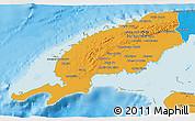 Political 3D Map of Pinar del Rio