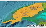 Political 3D Map of Pinar del Rio, satellite outside