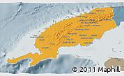 Political 3D Map of Pinar del Rio, semi-desaturated