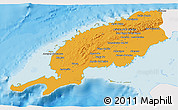 Political 3D Map of Pinar del Rio, single color outside