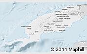 Silver Style 3D Map of Pinar del Rio