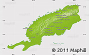 Physical Map of Pinar del Rio, cropped outside