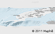 Gray Panoramic Map of Pinar del Rio
