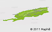 Physical Panoramic Map of Pinar del Rio, cropped outside