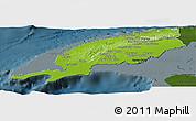 Physical Panoramic Map of Pinar del Rio, darken