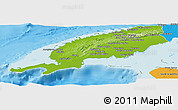 Physical Panoramic Map of Pinar del Rio, political outside