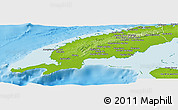 Physical Panoramic Map of Pinar del Rio