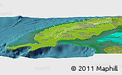 Physical Panoramic Map of Pinar del Rio, satellite outside