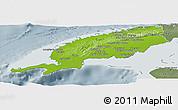 Physical Panoramic Map of Pinar del Rio, semi-desaturated