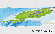 Physical Panoramic Map of Pinar del Rio, shaded relief outside
