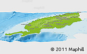 Physical Panoramic Map of Pinar del Rio, single color outside