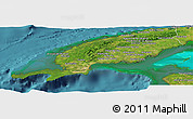 Satellite Panoramic Map of Pinar del Rio