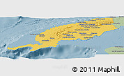 Savanna Style Panoramic Map of Pinar del Rio