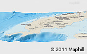 Shaded Relief Panoramic Map of Pinar del Rio