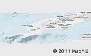 Silver Style Panoramic Map of Pinar del Rio