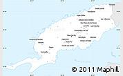 Silver Style Simple Map of Pinar del Rio, single color outside