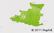 Physical 3D Map of Sancti Spiritus, cropped outside