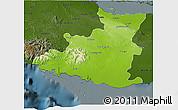 Physical 3D Map of Sancti Spiritus, darken