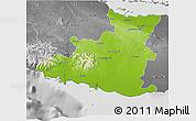 Physical 3D Map of Sancti Spiritus, desaturated
