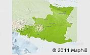 Physical 3D Map of Sancti Spiritus, lighten