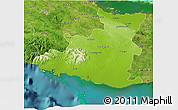 Physical 3D Map of Sancti Spiritus, satellite outside