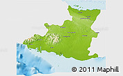 Physical 3D Map of Sancti Spiritus, single color outside