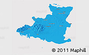 Political 3D Map of Sancti Spiritus, cropped outside