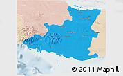 Political 3D Map of Sancti Spiritus, lighten