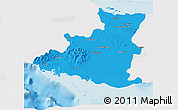 Political 3D Map of Sancti Spiritus, single color outside