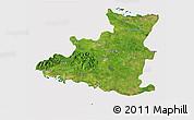 Satellite 3D Map of Sancti Spiritus, cropped outside