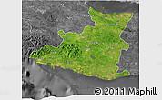Satellite 3D Map of Sancti Spiritus, desaturated