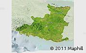 Satellite 3D Map of Sancti Spiritus, lighten