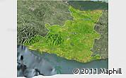 Satellite 3D Map of Sancti Spiritus, semi-desaturated