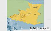 Savanna Style 3D Map of Sancti Spiritus, single color outside