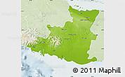 Physical Map of Sancti Spiritus, lighten