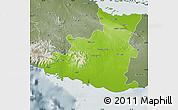 Physical Map of Sancti Spiritus, semi-desaturated