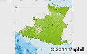 Physical Map of Sancti Spiritus, single color outside